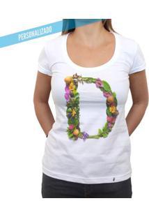 Carmen Alphabet Personalizada - Camiseta Clássica Feminina