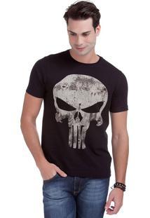 Camiseta Com Estampa Justiceiro