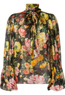 Dolce & Gabbana Blusa Floral - Preto