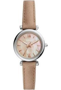 Relógio Fossil Carlie Mini Feminino - Feminino-Prata