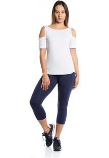 Camiseta Manga Curta Pinyx Open Shoulder Branco - Branco - Feminino - Dafiti