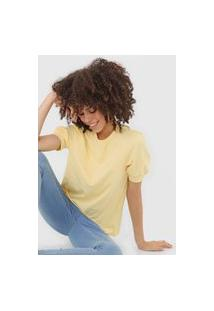 Camiseta Vero Moda Mangas Bufantes Amarela