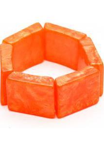 Pulseira Bracelete Madrepérola Quadrada