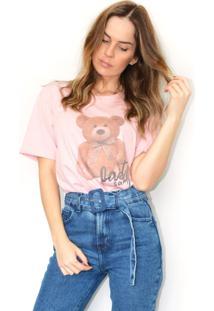 Tshirt Cz Brand Teddy Rosa Claro