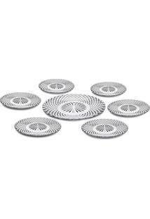 Conjunto De Pratos Diamond- Incolor- 7Pçs- Euro Euro Homeware