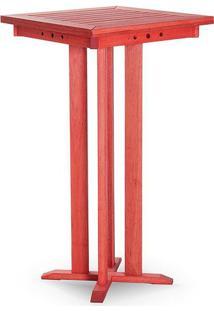 Mesa Bar Alta Estrutura Vermelho 110Cm - 61610 - Sun House
