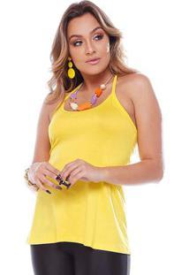 Blusa Alcinha Com Tule Nas Costas Amarelo
