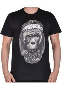 Camiseta Quiksilver Hurray Monkey Masculina - Masculino