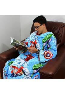 Cobertor Com Mangas Vingadores