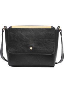Bolsa Macadamia Mini Bag Tiracolo Caramelo - Feminino-Preto
