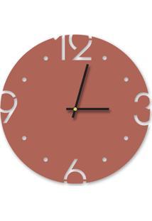 Relógio De Parede Decorativo Premium Cobre Metalizado Com Números Vazados Médio