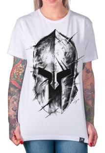 Camiseta Gladiador Artseries Spartano Feminina - Feminino-Branco