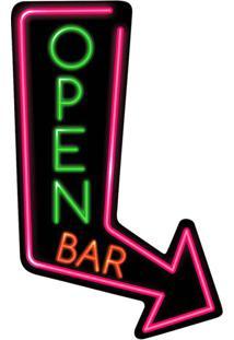 Placa Decorativa Route Bar Colorida