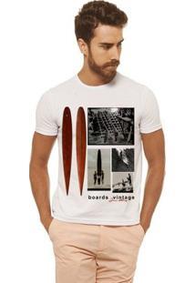 Camiseta Joss - Boards Vintage - Masculina - Masculino-Branco