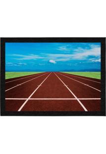 Capacho - Tapete Colours Creative Photo Decor - Pista De Atletismo - Moderno, Criativo E Diferente Azul