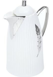 Garrafa Térmica De Porcelana Com Ampola De Vidro Pena 21X14,5X26,5Cm 650Ml - Unissex