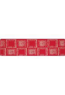 Tapete Sisllê Geométrico Duo Retangular Polipropileno (66X180) Vermelho