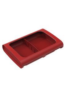Porta-Frios Sem Pinça Casual 24 X 17 X 5 Cm Vermelho Bold Coza Vermelho Bold Coza