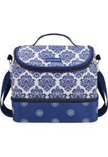 Bolsa Térmica Abstrata- Azul & Branca- 23X19,5X14Cmjacki Design