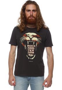Camiseta King&Joe Manga Curta Preto