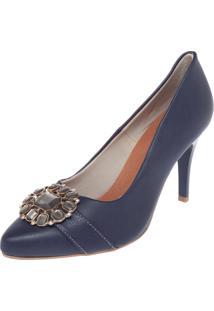 Scarpin Dafiti Shoes Pedraria Azul