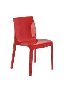 Cadeira Ice Vermelha Rivatti
