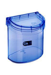 Lixeira Para Pia Glass 20,3 X 14,6 X 21,3 Cm 2,7 L Azul Coza