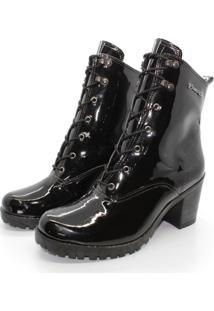 Bota Barth Shoes Wind Verniz - Preto - Kanui
