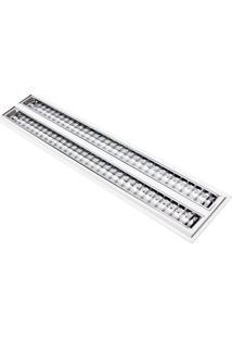 Luminária Completa De Embutir Taschibra Aletada Td 60 2X14W T5 6400K Branco Bivolt