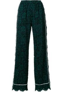 Dolce & Gabbana Calça Com Renda - Verde