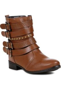 Bota Ankle Boot Feminina Autentique Marrom
