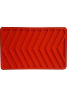 Descanso De Assadeira De Silicone Vermelho 21X14Cm - 25780