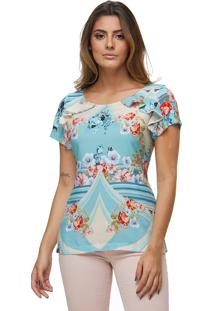 T-Shirt Zaiko Florida Mc Azul/Rosa (1609Est3)