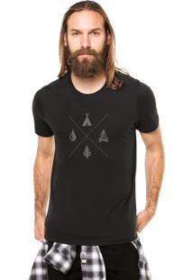 Camiseta Rgx Camping Preta