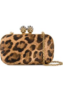 Alexander Mcqueen Clutch King And Queen - Neutro
