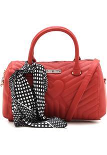 Bolsa Betty Boop Matelassê Vermelha
