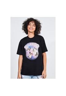 Camiseta Oversized Borboletas