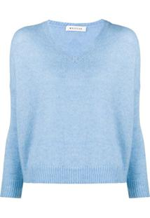 Masscob Suéter Oversized Gola V - Azul