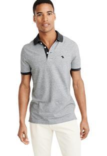 Camiseta Polo Abercrombie Clássica Cinza