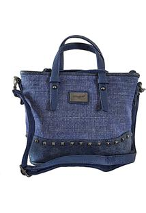 Bolsa Its! Tote Linho Rústico Azul
