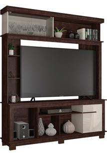"Estante Home Para Tv De Até 65"" Polegadas Euphoria-Caemmun - Tobacco / Off White"