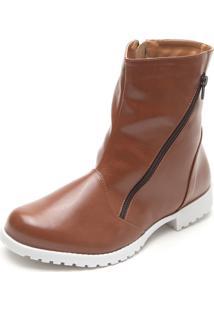 Bota Dafiti Shoes Fosco Marrom