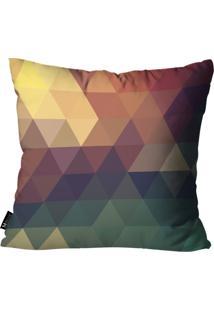 Capa Para Almofada Mdecore Abstrato Colorido 35X35