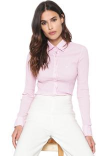 Camisa Dudalina Texturas Rosa