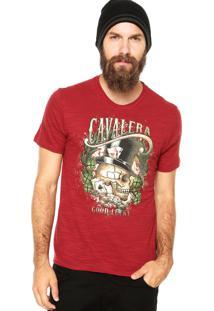 Camiseta Cavalera Jogatina Bordô