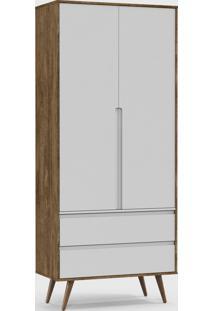 Roupeiro Retrã´ Clean 2 Portas Branco Soft / Teka / Eco Wood - Branco - Dafiti