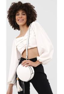 Bolsa Santa Lolla Tassel Branca - Branco - Feminino - Dafiti