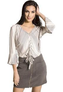 eb4bca6d50 ... Camisa Cropped Listrada Handbook - Feminino-Off White