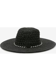 Chapéu Aba Larga Tressê Cordão