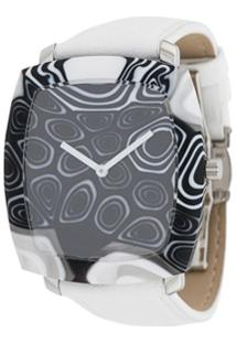 Yunik Relógio Tonneau - Branco